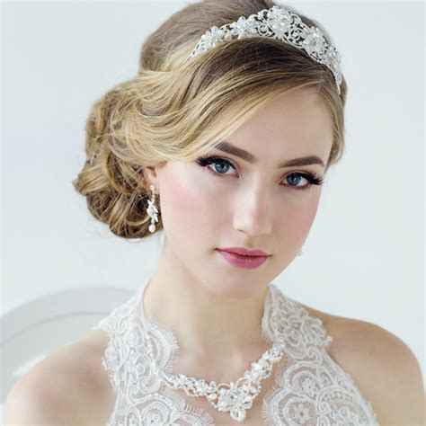 Adelina Silver Pearl Wedding Tiara Bridal Jewellery Bridal Hairstyles For Short Hair With Tiara
