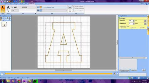 lettering design software creating an applique letter in pe design next