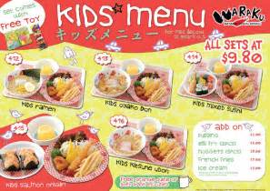 waraku kids menu singaporesupermarketrecipes com
