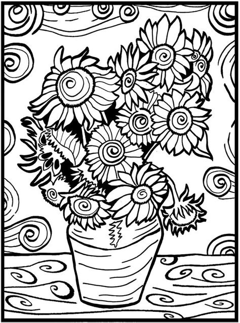 gogh coloring book grayscale coloring for relaxation coloring book therapy creative grayscale coloring books disegno da colorare in velluto pennarelli inclusi