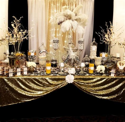 great gatsby themed party ideas image result for diy centerpieces candy dessert buffets