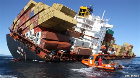 News Roundup Wrecked Cargo Ship And Behaving Badly by Further Disaster Averted As Is Taken Cargo Ship