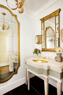 Mirrors For Powder Rooms All That Glitters Is Gold 10 Drop Dead Gold Bathrooms