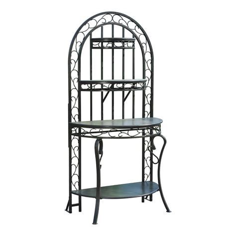 Bakers Rack Home Depot by Sunjoy Berkshire 36 In X 23 In Steel Bakers Rack L