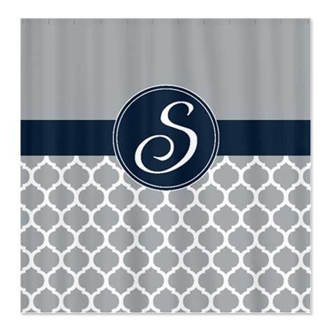 quatrefoil shower curtain custom quatrefoil shower curtain personalized with monogram