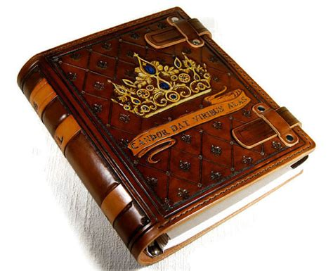 custom picture book custom personalized leather book journal notebook diary family