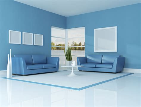 sky blue color for living room home combo