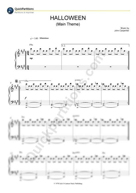 halloween themes music halloween main theme piano sheet music john carpenter