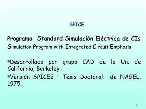 simulation program with integrated circuit emphasis spice programa de simulaci 243 n spice monografias