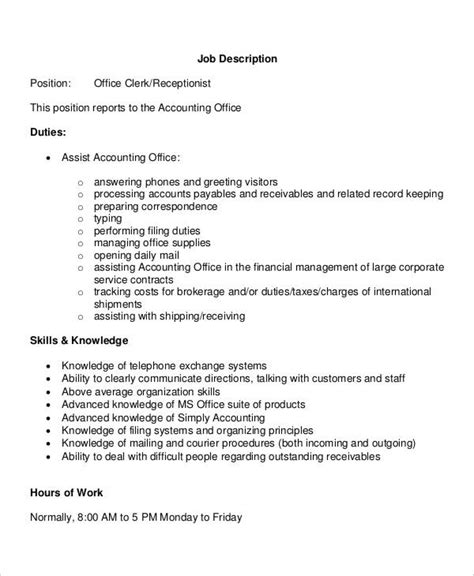 front desk receptionist job description for medical receptionist job description medical receptionist
