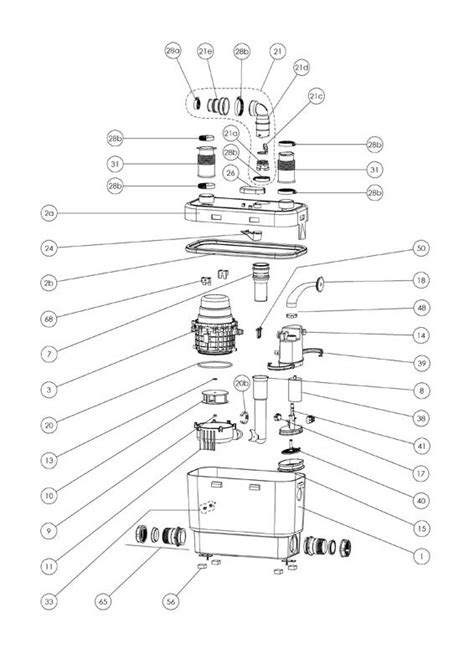 saniflo spare parts diagram sanispeed grey water for the commercial kitchen or office