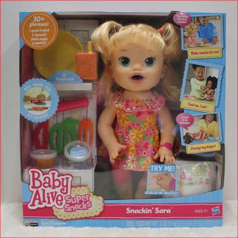 Baby Alive Snack Snackin Boneka Baby Alive Snackin baby alive snacks snackin doll poops talks blond ebay
