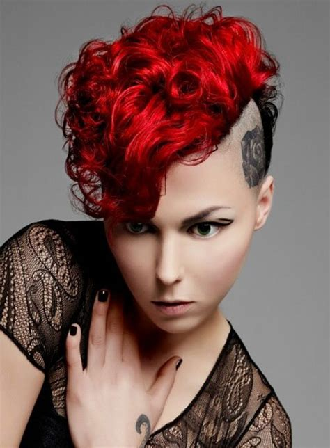 short punk haircuts for curly hair punk hairstyles for curly hair