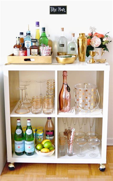 25 best ideas about bar cart essentials on