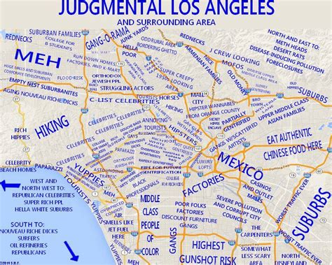 la map a post with 9 awesome maps of los angeles