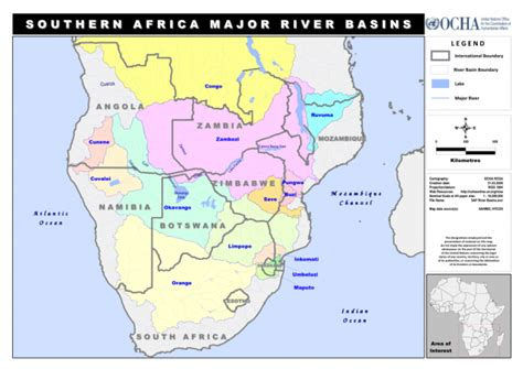 world map of rivers in africa southern africa major river basins as of 31 mar 2009
