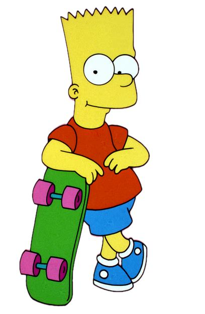 bart simpson cartoon characters simpsons main characters png