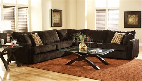 Large Fabric Sectional Sofas Viva Chocolate Fabric Modern Sectional Sofa W Large Back Pillows