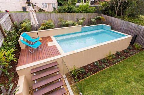 backyard above ground pools backyard small above ground swimming pool eye catching