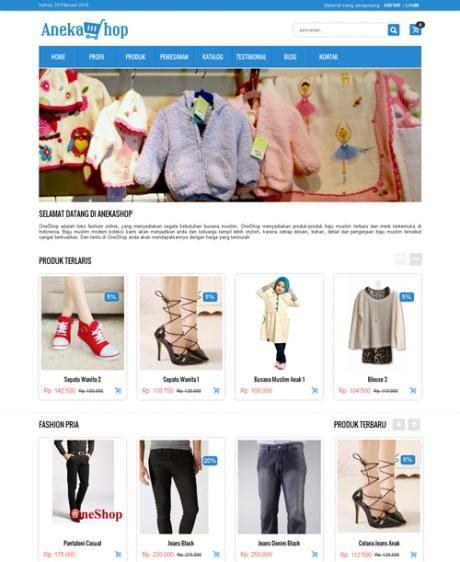 template toko online android web toko online commerce jejakjari