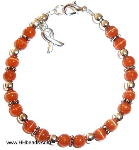 leukemia awareness bracelet 6mm