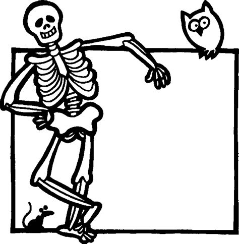 free skeleton templates free printable skeleton coloring pages for