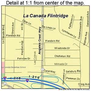 la canada california map la canada flintridge california map 0639003
