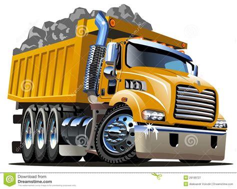 Cartoon Dump Truck stock vector. Image of cool, load   29199727