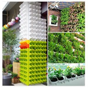 self watering vertical planters diy stackable 2 pocket garden wall planter self watering hanging flower pot uk