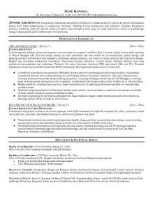 Junior Architect Cover Letter by Free Junior Architect Resume Exle