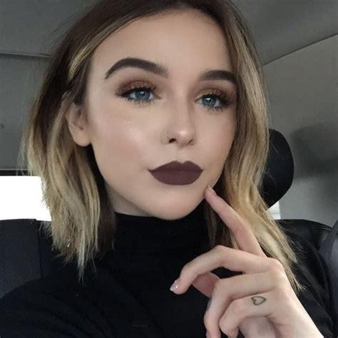makeup for blue eyes and blonde hair dark brown hairs beauty black lips blonde hair blue eyes dark makeup