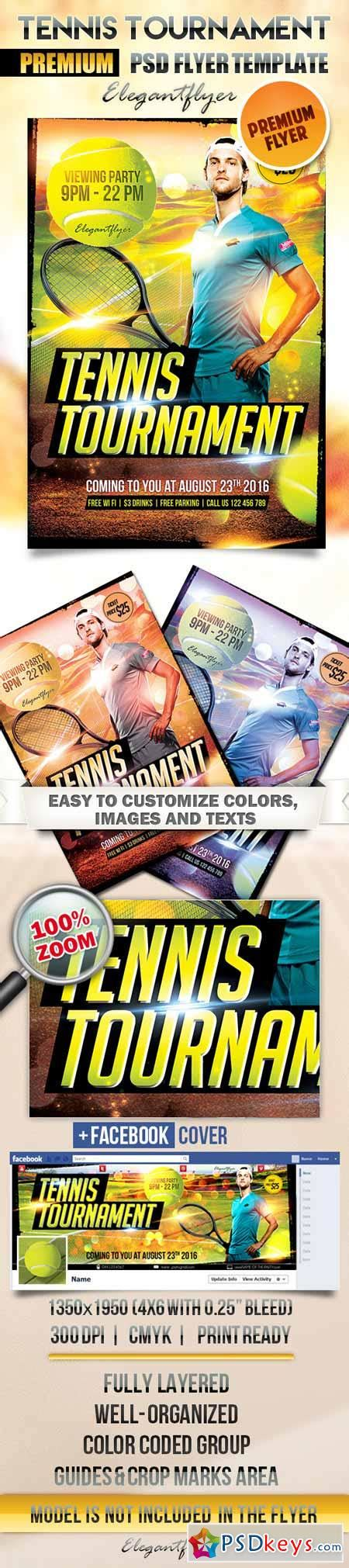 Tennis Tournament Flyer Psd Template Facebook Cover 187 Free Download Photoshop Vector Stock Tournament Flyer Template Free