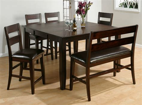Dining Room Table Sets With Bench | 26 big small dining room sets with bench seating