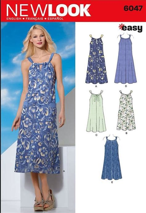 sewing pattern summer dress new look sewing pattern 6047 sizes 10 22 women s summer