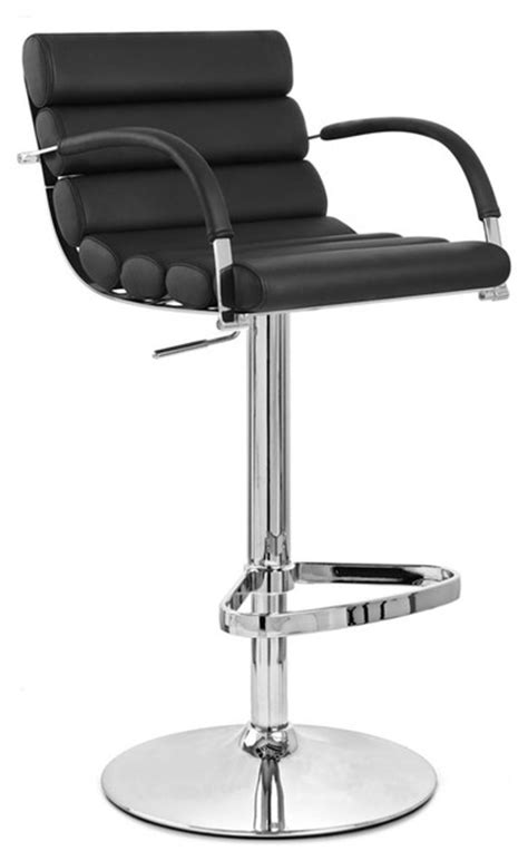 contemporary bar stools swivel black ego swivel bar stool chrome base contemporary bar
