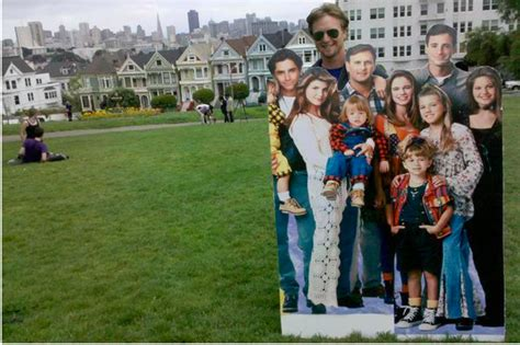 full house painted ladies entire cast of full house spotted at the painted ladies uptown almanac