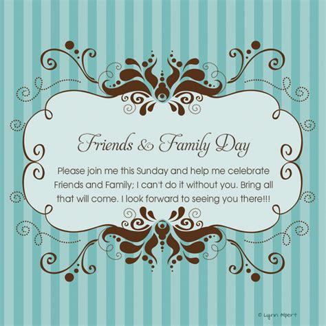 Church Family Friends Day Themes 2015 Just B Cause And Friends Invitation Templates