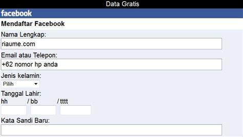 membuat facebook tanpa email cara mudah daftar facebook baru tanpa email terbaru mei 2018