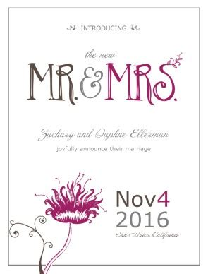 Wedding Announcement Sayings by Wedding Announcement Wording
