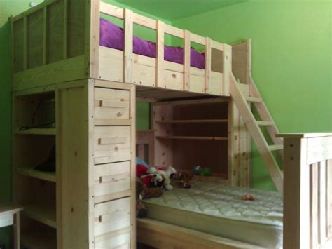 Ana White Cabin Bunk Beds Diy Projects Cabin Bunk Beds For