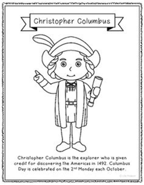 christopher columbus mini biography pocahontas coloring page craft or poster with mini