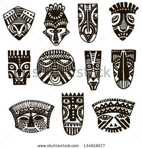 design artefacts meaning hand drawn illustration ornamental element african mask