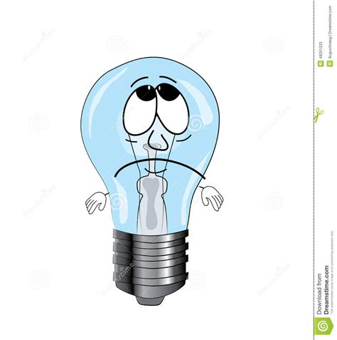 blue light bulbs for sad sad light cartoon stock illustration image of