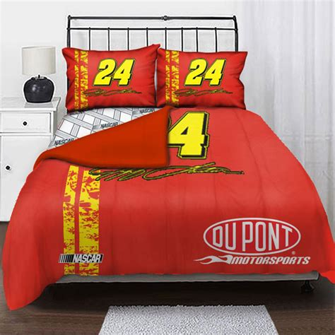 kyle busch comforter nascar bedding sets nascar checkered flag bed in a bag