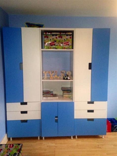 Childrens Blue Wardrobe by Ovno Possible Delivery Stuva Wardrobe Blue White