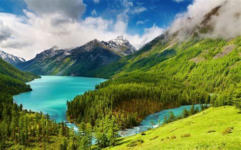 wallpaper pemandangan danau indah