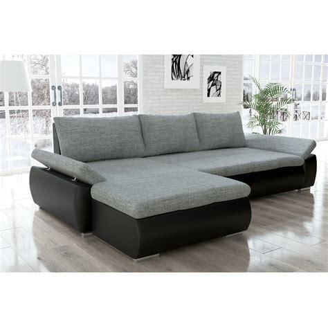 ecksofa mit breiter ottomane sofa kreta schwarz grau ecksofa jalano schlafsofa l