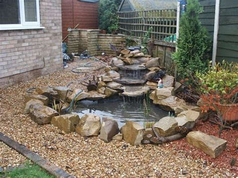 small garden waterfall ideas small rocky ponds for balancing and refreshing value on a garden home outside