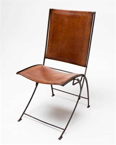 leather folding chair ch003 vintage leather folding chair acme props