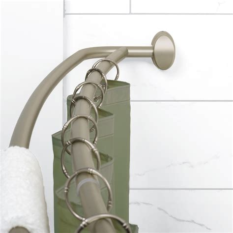 curved double shower curtain rod com zenna home e35604ss neverrust aluminum double
